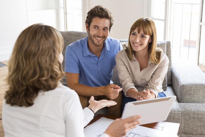 realtor explaining the process of building a custom home